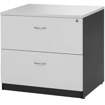 Image for OXLEY LATERAL FILE CABINET LOCKABLE 780 X 560 X 750MM WHITE/IRONSTONE from Office National Capalaba