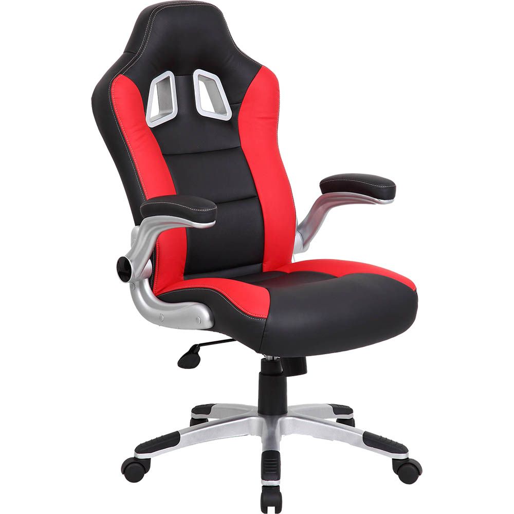 Image for XR8 FORMULA 1 OFFICE CHAIR WITH ARMS RED from Office National Barossa