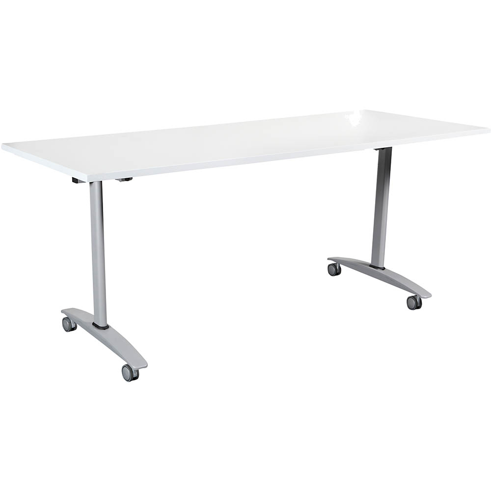 Image for SUMMIT FLIP TABLE 1800 X 750MM WHITE from Mackay Business Machines (MBM)