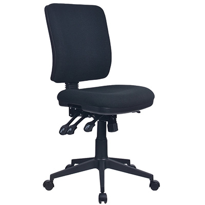 Image for INITIATIVE REJUVENATE ERGONOMIC HIGH BACK CHAIR BLACK from City Stationery Office National