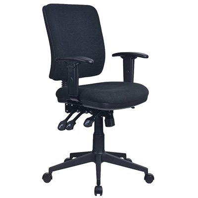 Image for INITIATIVE REJUVENATE ERGONOMIC HIGH BACK CHAIR ARMS BLACK from City Stationery Office National