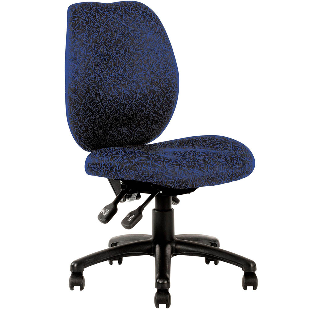 Image for INITIATIVE AMBITION HIGH BACK OPERATOR CHAIR BLUE from City Stationery Office National