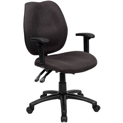 Image for INITIATIVE AMBITION HIGH BACK OPERATOR CHAIR ARMS BLACK from City Stationery Office National