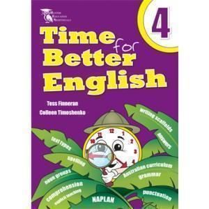 Image for TIME FOR BETTER ENGLISH BOOK 4 WORKBOOK from Office National Hobart
