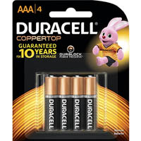 DURACELL COPPERTOP ALKALINE AAA BATTERY PACK 4