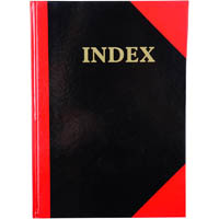 BLACK AND RED NOTEBOOK CASEBOUND RULED A-Z INDEX 100 LEAF A4