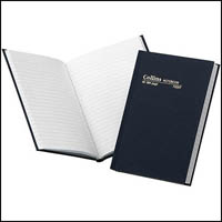 COLLINS NOTEBOOK CASEBOUND FEINT RULLED 384 PAGE A5 BLUE