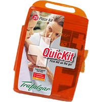 TRAFALGAR QUICKIT 25 PIECE FIRST AID KIT