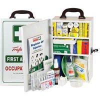 TRAFALGAR NATIONAL WORKPLACE FIRST AID KIT WALL MOUNT METAL