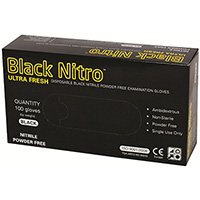 BLACK NITRO NITRILE POWDER-FREE GLOVES MEDIUM BOX 100