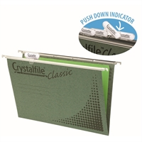 CRYSTALFILE SUSPENSION FILES CLASSIC A4 GREEN BOX 50