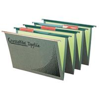 CRYSTALFILE TOPFILE SUSPENSION FILES WITH TABS AND INSERTS GREEN BOX 50