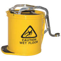 CLEANLINK MOP BUCKET HEAVY DUTY WITH METAL WRINGER YELLOW