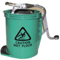 CLEANLINK MOP BUCKET HEAVY DUTY WITH METAL WRINGER GREEN