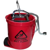 CLEANLINK MOP BUCKET HEAVY DUTY WITH METAL WRINGER RED