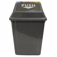 CLEANLINK RUBBISH BIN WITH SWING LID 25 LITRE GREY