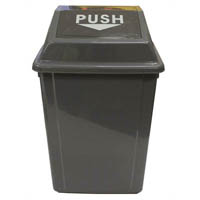 CLEANLINK RUBBISH BIN WITH SWING LID 60 LITRE GREY