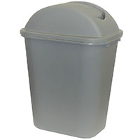 CLEANLINK RUBBISH BIN WITH LID 24 LITRE GREY
