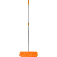CLEANLINK MICROFIBRE FLAT MOP 450MM WITH 1350MM TELESCOPIC HANDLE BLUE