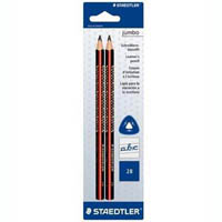 STAEDTLER JUMBO TRIANGULAR GRAPHITE PENCILS 2B BOX 12