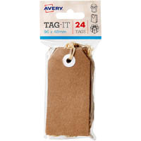 AVERY 13200 TAG-IT WITH STRING SIZE 3 KRAFT BROWN PACK 24