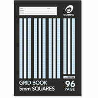 OLYMPIC GH596 GRAPH BOOK 5MM SQUARES 96 PAGE 55GSM A4