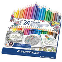 STAEDTLER 157 ERGO SOFT JOHANNA BASFORD COLOURED PENCILS BOX 24