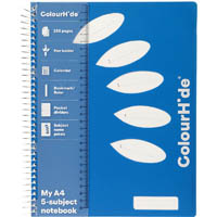 COLOURHIDE MY 5-SUBJECT NOTEBOOK 250 PAGE A4 BLUE