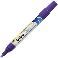 ARTLINE GLASS MARKER 2MM PURPLE