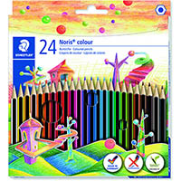 STAEDTLER 185 NORIS CLUB COLOURED PENCILS ASSORTED BOX 24