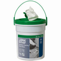 TORK 2316794 SURFACE CLEANING WET WIPES 1 PLY BUCKET 72 WIPES