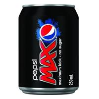 PEPSI MAX CAN 250ML CARTON 24
