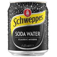 SCHWEPPES SODA WATER CAN 250ML CARTON 24