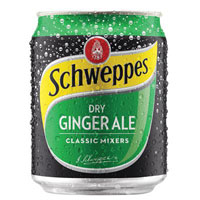 SCHWEPPES DRY GINGER ALE CAN 200ML CARTON 24