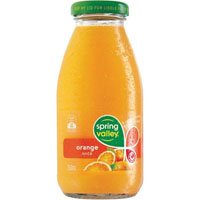 SPRING VALLEY ORANGE JUICE GLASS 250ML CARTON 30