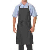 DNC FULL BIB APRON POLYESTER/COTTON WITH POCKET