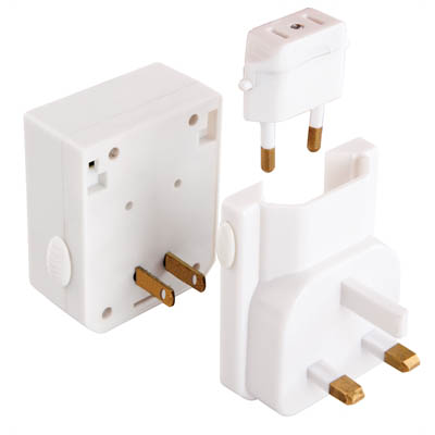 Image for JACKSON UNIVERSAL TRAVEL ADAPTOR WITH USB PORTS WHITE from Office National Sydney Stationery