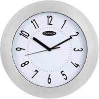 JASTEK WALL CLOCK 250MM SILVER