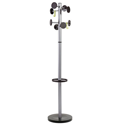 Image for ALBA COAT RACK STAND 3 SILVER / BLACK from Dynamic Office National
