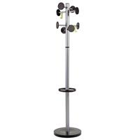 ALBA COAT RACK STAND 3 SILVER / BLACK