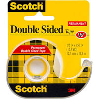 SCOTCH 137 DOUBLE SIDED TAPE 12.7MM X 11.4M