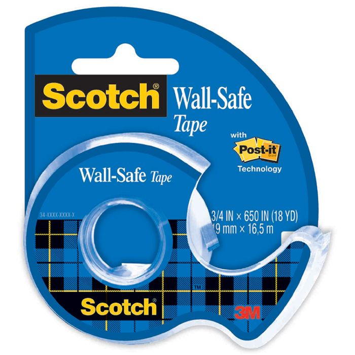 Image for SCOTCH 183 WALL SAFE TAPE AND DISPENSER 19MM X 16.5M from Pirie Office National