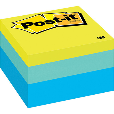 Image for POST-IT 2056-RC NOTE CUBE 76 X 76MM RIBBON CANDY from Office National Perth CBD