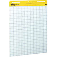 POST-IT 560 SUPER STICKY GRID EASEL PAD WHITE
