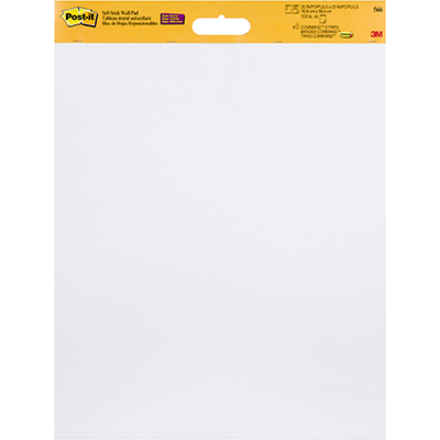 Post It 566 Super Sticky Wall Hanging Pad 508 X 609mm White Pack 2
