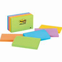 POST-IT 635-5AU LINED NOTES 76 X 127MM JAIPUR PACK 5