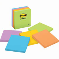 POST-IT 654-5UC ULTRA NOTES STANDARD 76 X 76MM JAIPUR ASSORTED PACK 5