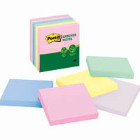POST-IT 654-RTP RECYCLED NOTES 76 X 76MM ASSORTED HELSINKI PACK 16