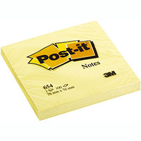 POST-IT 654 ORIGINAL NOTES 76 X 76MM YELLOW