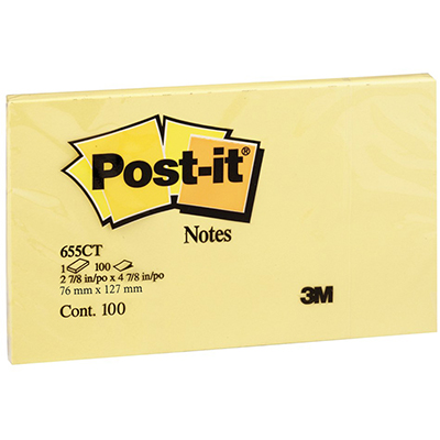 Image for POST-IT 655-CT NOTES 76 X 127MM NEON CITRUS from Paul John Office National